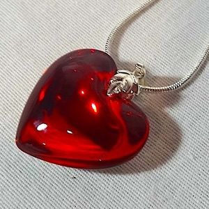 Gorgeous Red Heart Pendant